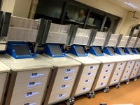 Mass assembly, fitting and wiring of BETRACE intelligent medical trolleys