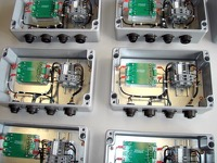Subcontracted and mass production fitting and wiring of industrial electrical and electronic cabinets subassemblies